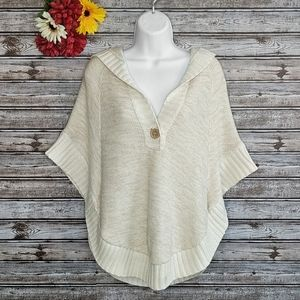 Sonoma | Oatmeal Hooded Rounded Poncho | M